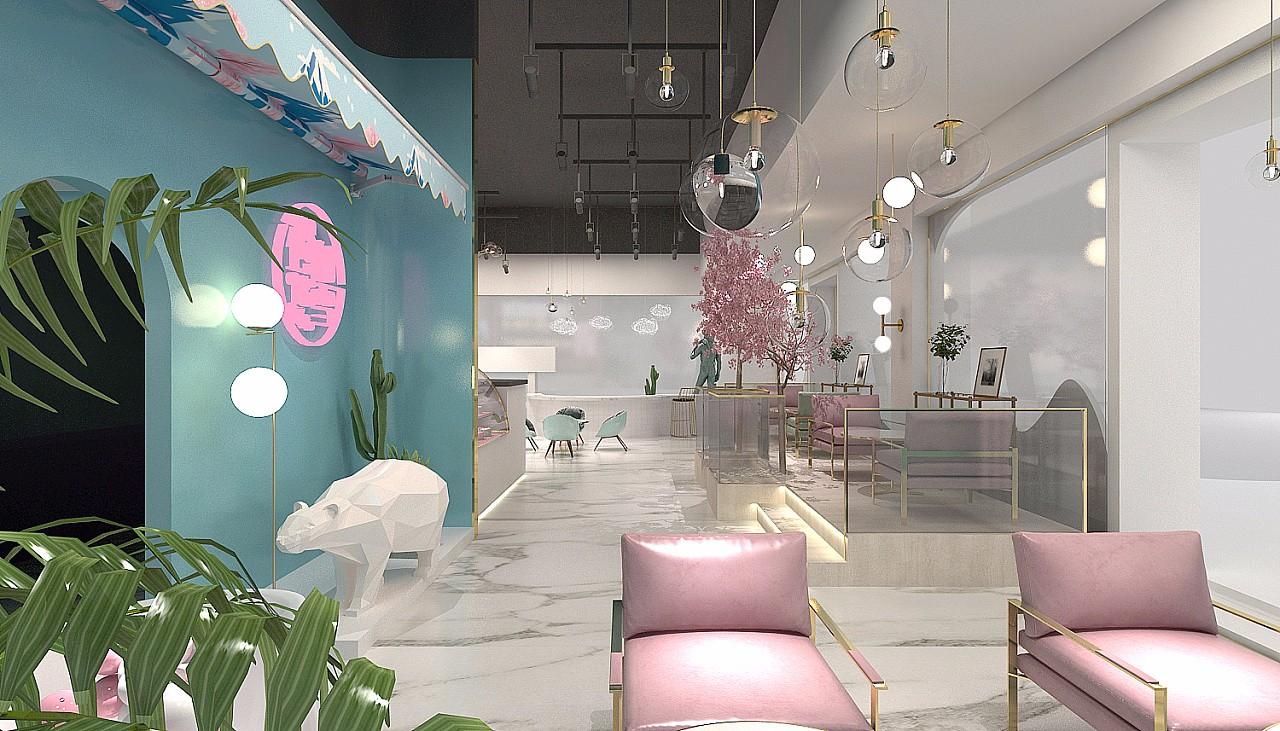 郑州冷饮店装修设计效果图片
